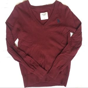 Maroon Abercrombie & Fitch Sweater